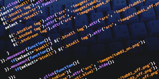 JavaScriptのコーディング画面